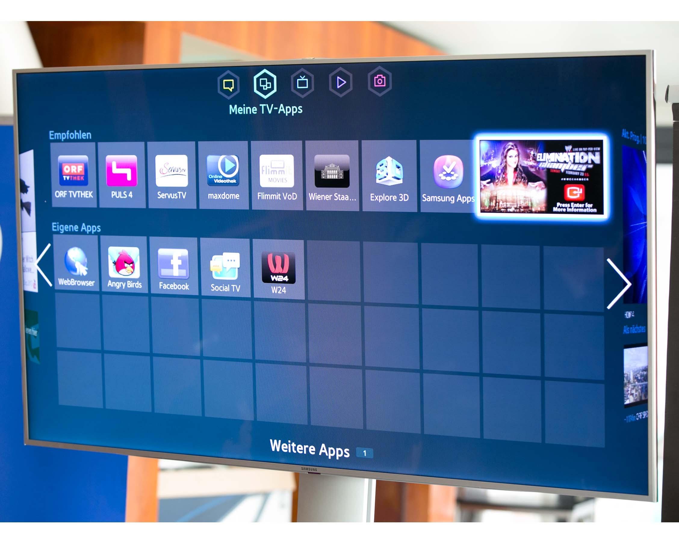 w24 samsung smart tv app wien holding. Black Bedroom Furniture Sets. Home Design Ideas