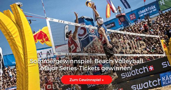 Sommergewinnspiel: Beach Volleyball Major Series-Tickets gewinnen!