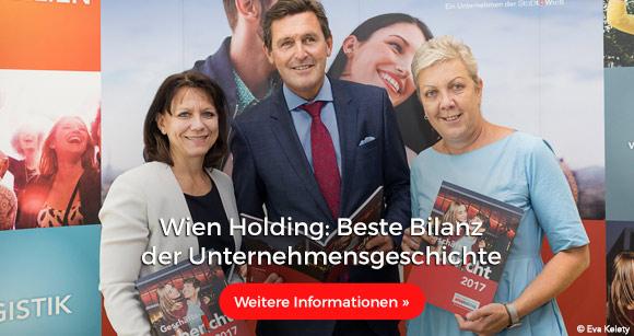 Wien Holding: Beste Bilanz der Unternehmensgeschichte