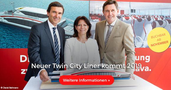 Neuer Twin City Liner kommt 2019