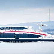 Neuer Twin City Liner auf dem Weg nach Wien