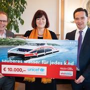 Twin City Liner: 10.000,-- Euro für UNICEF Österreich