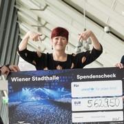 Die Wiener Stadthalle unterstützt UNICEF