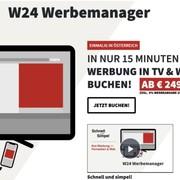 W24: In nur 15 Minuten Werbung im TV und Web buchen